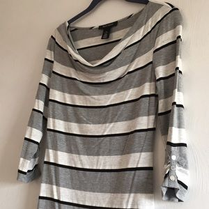 EUC striped tunic
